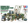 Tamiya 37023 German Field Maintenance Team & Equipment Set 1/35