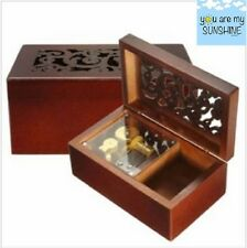 Solid Wood Miniature Hollow Music Box Jewelry Box: YOU ARE MY SUNSHINE