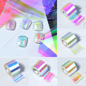 Aurora Foil Film Nail Glass Sticker Manicure Decoration DIY Nail Art Manicure