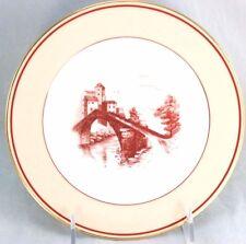 FINE LIMOGES SET 8 ANTIQUE SALAD PLATES CHARLES AHRENFELDT CHINA PINK MAUVE GOLD