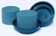 5 Cylinder Oasis Floral Foam & 5 Green Junior Bowls