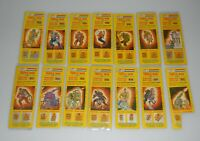 Lot 1985 GI Joe Cobra Triple Win Game Piece Sticker Card figure Insert Set of 14