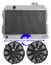 "ALUMINUM RADIATOR FOR 1968-1973 Nissan Datsun 510 521 Pickup Base +2x7""Fan 3ROW"