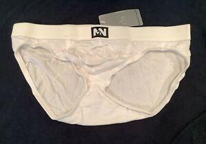 N2N Bodywear Men's Underwear Brief - L, White