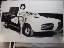 1960 'S PLYMOUTH FIRE BALL 500 SHOW CAR ANNETTE FUNICELLO   11 X 17 PICTURE