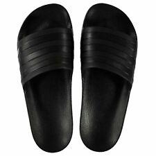 NEW Adidas Mens adilette aqua Duramo Sliders Flip Flops BLACK SIZE FROM 4--14