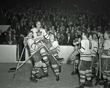 Bill Barilko - 1951 Stanley Celebration After Game - 8x10 B&W photo