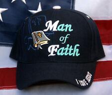 MAN OF FAITH BIBLE GOD JESUS CHRIST CHRISTIAN CROSS HAT CAP HEAVEN PIN UP GIFT