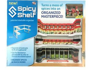 Cupboard Cabinet Spicy Shelf Spice Rack Organizer 2 Shelves Holds 64 Bottles