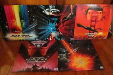 5 Star Trek Movie Laserdiscs PAL Widescreen