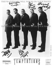 THE TEMPTATIONS GROUP AUTOGRAPHED 8x10 RP PHOTO ALL 5