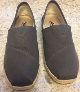 Mens Shoes Straw Espadrille Loafers Slip On Fisherman Canvas Shoes, sz. 8.5
