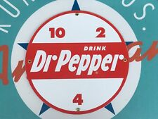 drink DR. PEPPER  top QUALITY porcelain coated 18 GAUGE steel SIGN