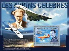 CHUCK YEAGER (Bell X-1) Aviator Aircraft Stamp Sheet (2009 Comoros)