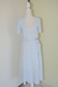 Ally Light Blue Floral Wrap Dress size  6 New