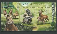 Lithuania 2017 Fauna Animals MNH Block