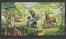 Lithuania 2017 Fauna Animals MNH Block