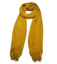Cashmere Nice large soft real wool shawl scarf Mustard
