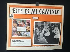 1969 ELVIS PRESLEY Change of Habit Authentic Mexican Lobby Card -A316