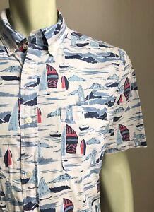 "Vineyard Vines Classic Fit ""Murray"" Shirt, Lighthouse Bay, Large, EUC"