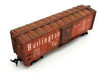 HO Scale - Burlington Route CB & Q #19270 Box Car Weathered - Model Train