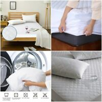 "EXTRA DEEP 16""/40CM WATERPROOF QUILTED MATTRESS PROTECTOR 120 GSM TOPPER BED"
