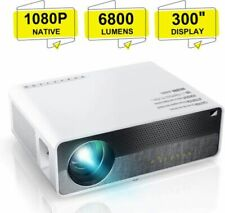 "ELEPHAS Q9 Native 1080P HD Video Projector Support 2K 6800 Lumens 300"" Display"
