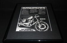 1982 Yamaha Virago 750 Motorcycle 11x14 Framed ORIGINAL Vintage Advertisement