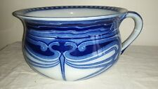 Flow Blue Chamber Pot-AUBREY Pattern by Doulton c. 1902