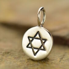 925 Sterling Silver Star of David Charm Jewish Faith for Necklace Bracelet 728