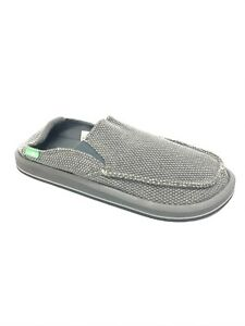 Sanuk Men's Vagabonded Grey Sidewalk Surfers Slip On Shoes 1015926 Canvas