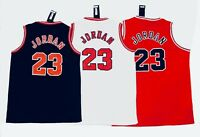 🌟Michael Jordan #23 Chicago Bulls Mens Basketball Jersey, Black White Or Red