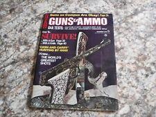 GUNS & AMMO DEC. 1970. R.W. LOVELESS COVER KNIFE. GIL HIBBEN DESIGNED BROWNING