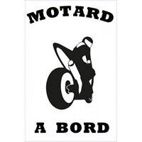 Autocollant Motard à Bord moto sticker noir 17 cm
