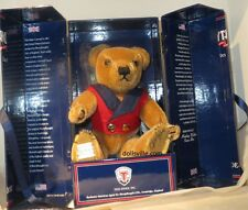 """Merrythought """"Albert"""" English Bear HAND-SIGNED Gold Mohair LE NEW BOXED MIB NRFB"""