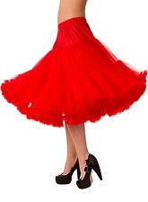 """BANNED Lifeforms 26"""" Red Petticoat All Sizes - Vintage 50s Underskirts"""