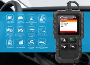 LAUNCH X431 CR3001 Full OBD2 scanner OBDII Code Reader Car Diagnostic tool turn