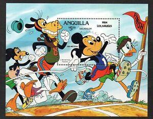 Anguilla 1984 Los Angeles Olympics MNH mini sheet M.S. 595a