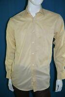 LOUIS FERAUD Taille 37 - S  Superbe chemise manches longues jaune orangé homme