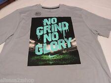 Nike DRI FIT SMACK TALK NO GRIND NO GLORY L LG 632532 T shirt Men's active grey