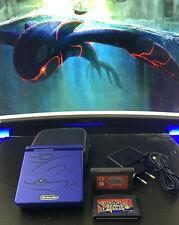 Nintendo Gameboy Advance SP Kyogre Saphir Edition mit 2 Spielen + Tasche