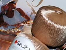 600g Azzurro Glanz-Bändchen GEDIFRA Wolle Luxus Sand Beige Edel