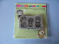 HOUSE MOUSE RUBBER STAMPS CLING BOW TIED CHRISTMAS MICE NEW cling STAMP