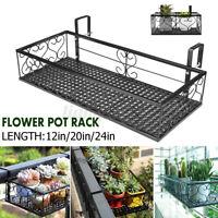 30x20x12 cm Garden Hanging Basket Plant Iron Rack Wall Fence Balcony Flower Pot