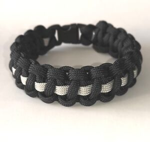 The Thin Grey Line Prison Service/Officer/Correctional Paracord Bracelet