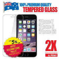 2x GENUINE Tempered Glass Screen Protector For Apple iPhone X 8 7 6s Plus-AU