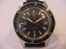 RARE 1969 VINTAGE ELGIN DIVERS DIVE WATCH 25j AUTOMATIC PUW 1461! SUBMARINER!