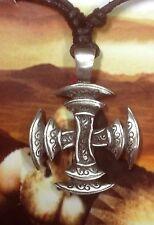 Greek Cross Pewter  Pendant