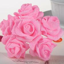 Artificielle fleur rose rose poudre mariage rose mariage demoiselle d'honneur bon marché 60pcs