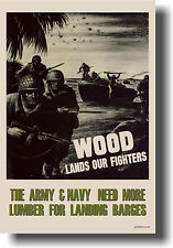 Wood Lands Our Fighters - veterans NEW Reproduction Vintage WW2 Art Print POSTER